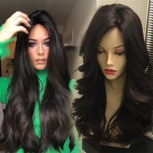 Black Long Curly Wig